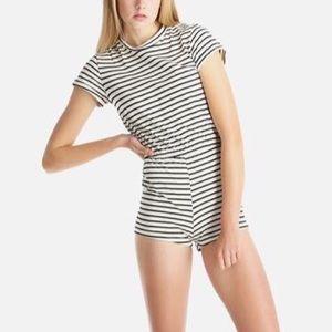 American Apparel Striped T Shirt Romper
